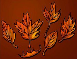 Раскрасили листья