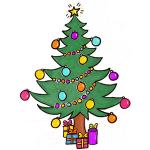 Как нарисовать новогоднюю елку с игрушками поэтапно карандашом