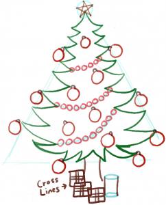 как рисовать новогоднюю ёлку