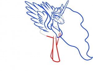 как рисовать пони «Дружба - это чудо», принцессу Селестию