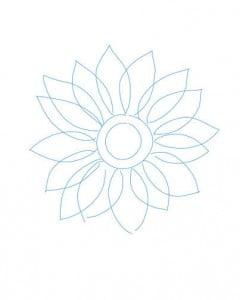 как рисовать цветок