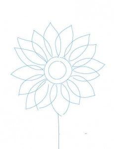 как нарисовать цветок карандашом поэтапно