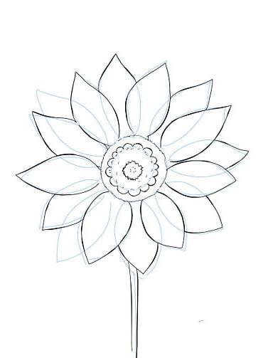 Красивый цветок нарисовать карандашом