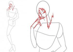 как нарисовать девушку карандашом