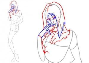 как нарисовать человека, девушку