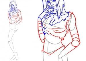 как рисовать тело девушки
