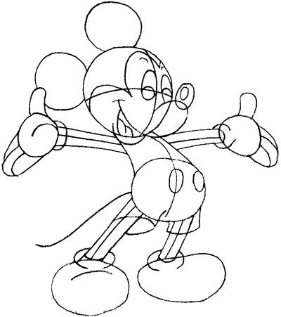 как нарисовать микимауса карандашом поэтапно