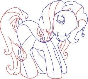 как нарисовать Малитл пони