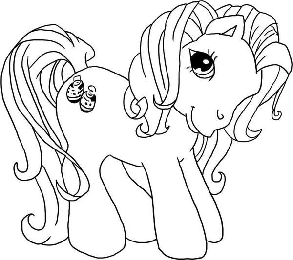 как рисовать пони карандашом: