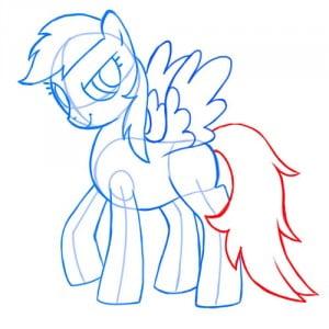 как нарисовать пони Радугу, Дружба это чудо