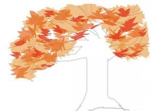 как рисовать осень карандашом