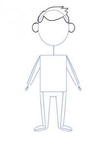 как ребенку нарисовать человека поэтапно