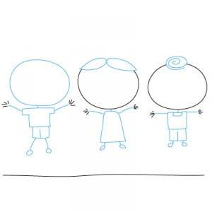 как рисовать детей карандашом