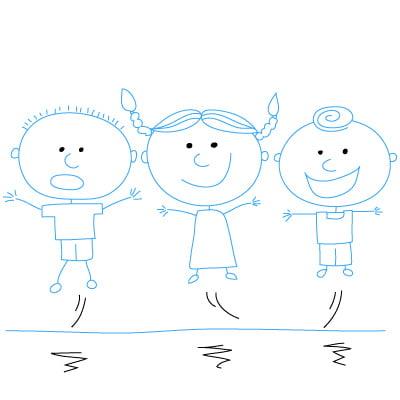 Как рисовать девочку по детски