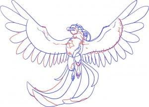 как нарисовать жар птицу поэтапно