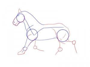 как рисовать карандашом коня