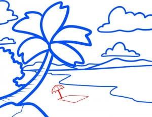 как нарисовать лето карандашом