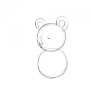 как нарисовать игрушечного мишку