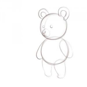 как нарисовать плюшевого мишку поэтапно