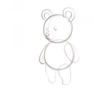 как легко нарисовать мишку