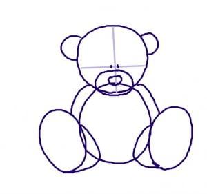 как нарисовать мишек Тедди поэтапно