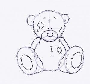 как нарисовать мишек Тедди карандашом