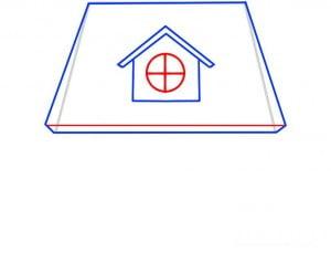 как нарисовать домик детям