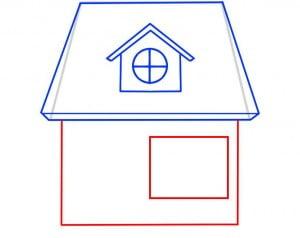 как нарисовать красивый домик