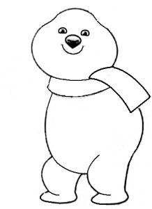 как нарисовать олимпийского медвежонка
