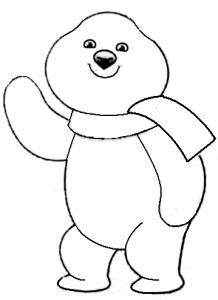 как нарисовать олимпийского белого мишку