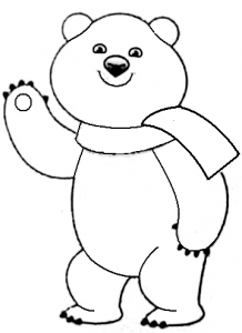 как нарисовать олимпийского медведя поэтапно