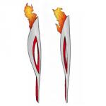 Как нарисовать олимпийский факел 2014 поэтапно карандашом