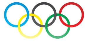 Готовые олимпийские кольца