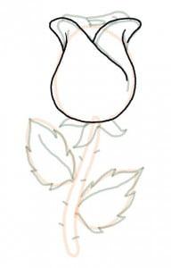 как ребенку нарисовать розу