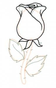 как нарисовать маме розу