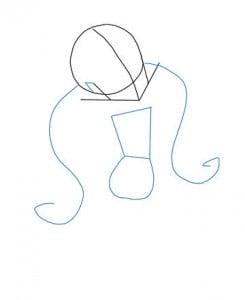 как нарисовать Дракулауру карандашом