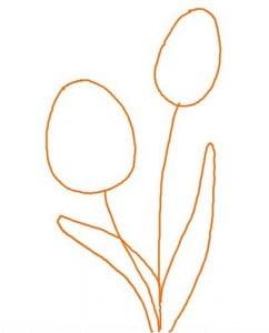 как научиться рисовать тюльпаны