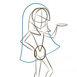 как рисовать Клео де Нил