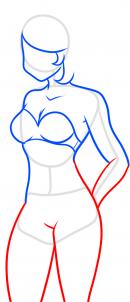 как нарисовать женское тело карандашом