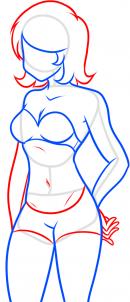 как нарисовать женское тело