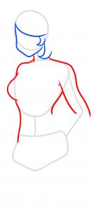 как нарисовать тело женщины
