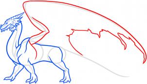 как научится поэтапно рисовать дракона