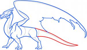 смотреть как нарисовать дракона