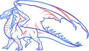 Как нарисовать дракона по шагам