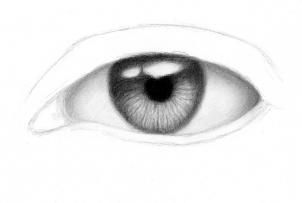 Так можно нарисовать реалистичный глаз карандашом