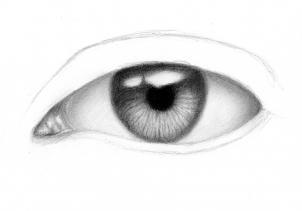 Продолжаем рисовать реалистичные глаза карандашом