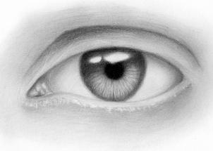 Подходим к концу рисования глаза