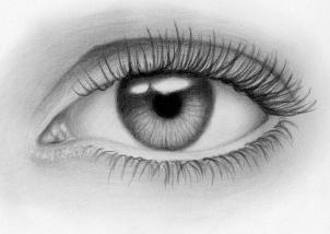 Дорисовываем реалистичный глаз карандашом