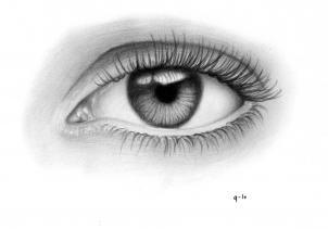Рисунок реалистичного глаза