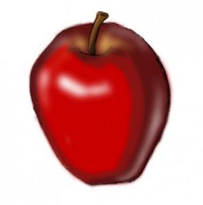 как правильно рисовать яблоко